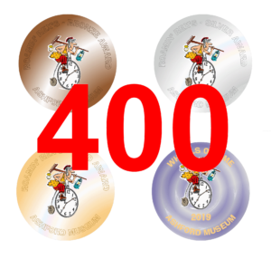 400 Award badges